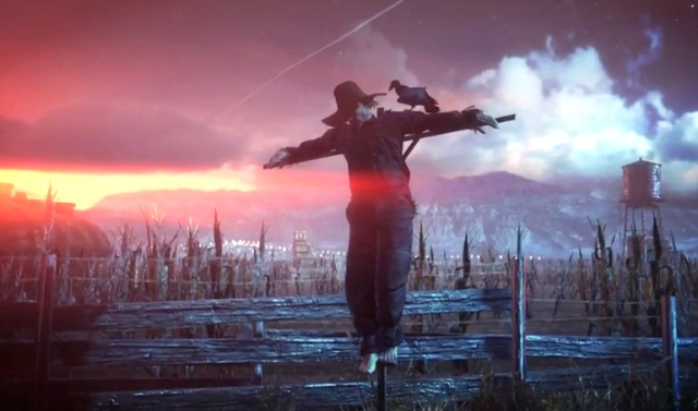 Agent 47 Hanging on Cross from YouTube-IO Interactive channel