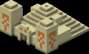 Desert Temple from Minecraft Wiki