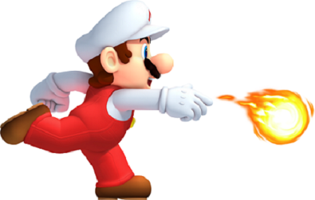 New Super Mario Bros. 2 Fire Mario from Mario Wiki