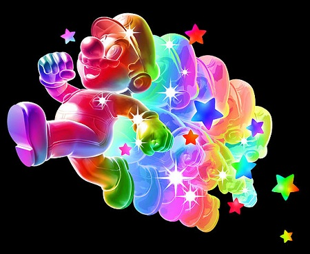 Super Mario Galaxy Rainbow Mario from Mario Wiki