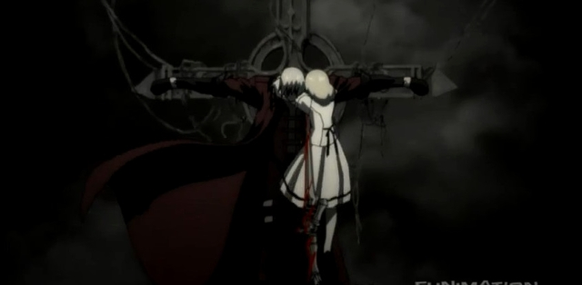 Dante on cross from DMC Anime (2)