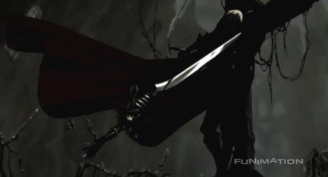Dante on cross from DMC Anime