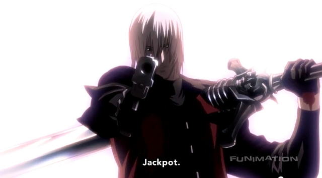 Dante triumphant from DMC Anime #1
