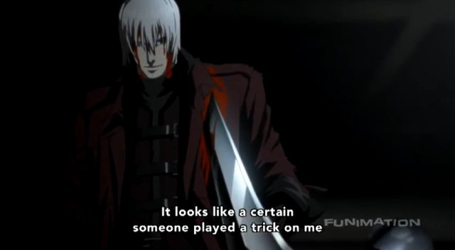 Sword wound from DMC Anime
