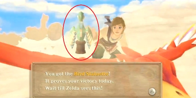 Skyward Sword Bird Statuette from YouTube (1)