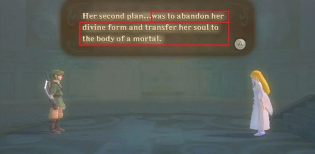 Skyward Sword Zelda is the goddess statements 1 from YouTube (2)