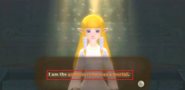 Skyward Sword Zelda is the goddess statements 1 from YouTube (8)