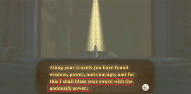 Skyward Sword Zelda is the goddess statements 2 from YouTube (3)