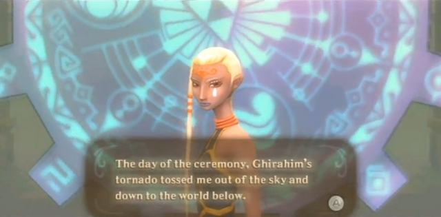 Skyward Sword Zelda prays at the goddess statues from YouTube (1)