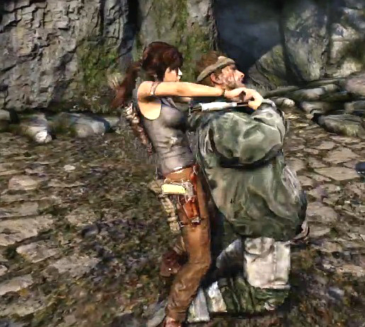 Tomb Raider Lara strangles from YouTube