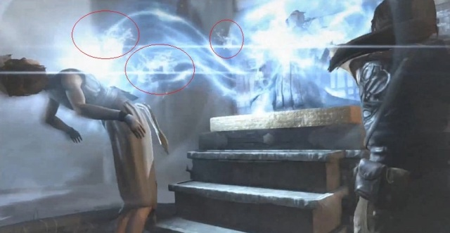 Notice that the particle effects used for a spirit and water are one and the same.