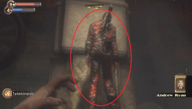 BioShock Hanging corpse of Ryan's enemy from YouTube
