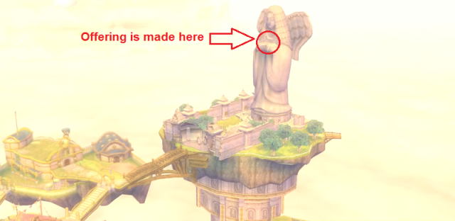 Statue of the Goddess offering location from Zelda Wiki