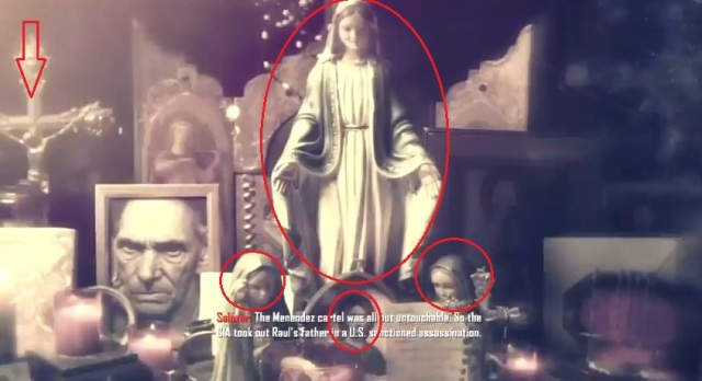 Black Ops 2 Menendez's Father Scene with Virgin Mary from YouTube-theRadBrad channel (6)
