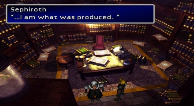 "Sephiroth: ""I am what was produced."""