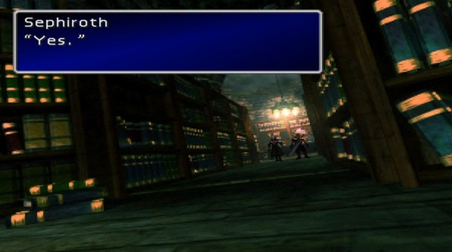 "Sephiroth: ""Yes."""