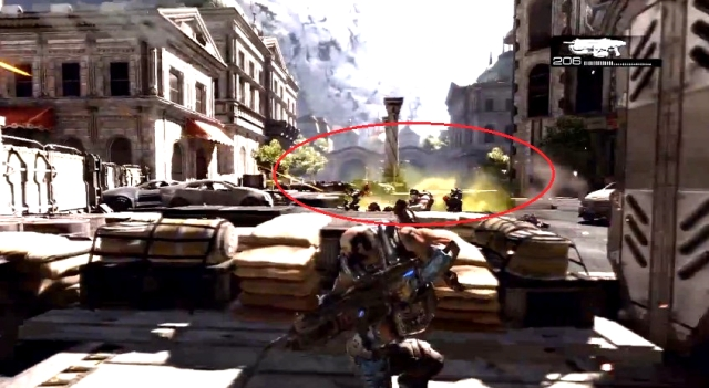 Gears of War 3 Raam's Shadow Locust Emergence Hole Sequence from YouTube (9)