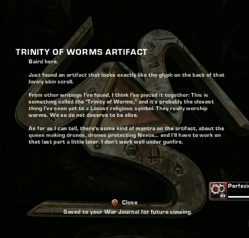 GOW Trinity of Worms artifact from YouTube