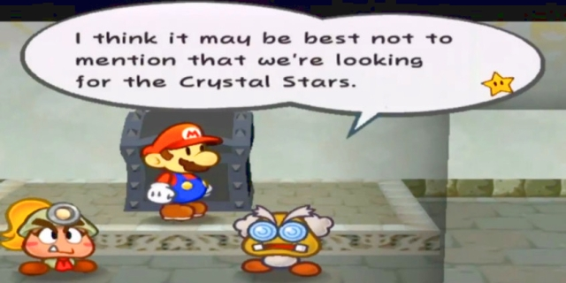"Professor Frankly: ""I think it may be best not to mention that we're looking for the Crystal Stars."""