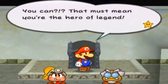 You can?!? That must mean you're the great hero of legend!