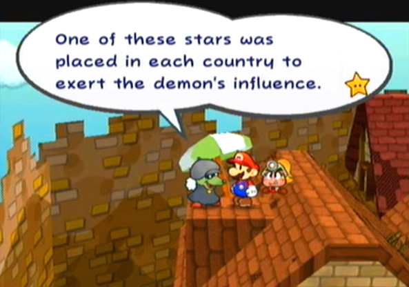 """One of these stars was placed in each country to exert the demon's influence."""