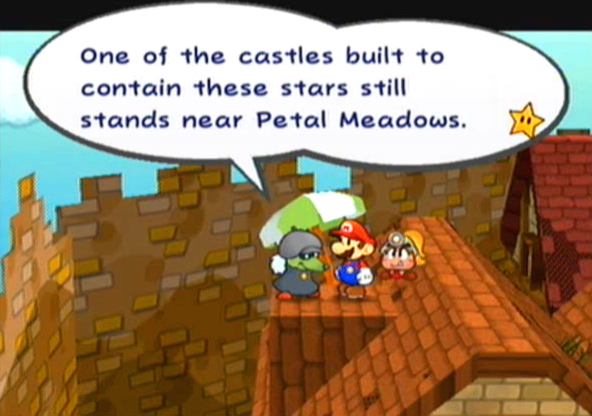 """One of the castles built to contain these stars still stands near Petal Meadows."""