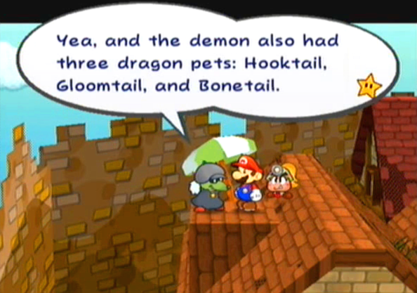 """Yea, and the demon also had three dragon pets: Hooktail, Gloomtail, and Bonetail."""