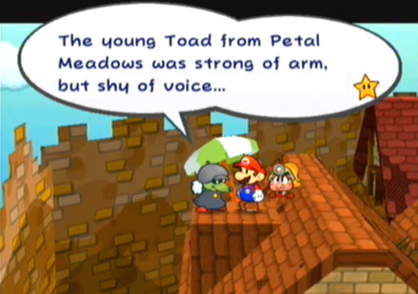 """The young toad from Petal Meadows was strong of arm, but shy of voice..."""