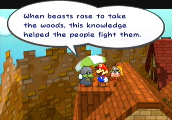 """When the beasts rose to take the woods, this knowledge helped the people fight them."""