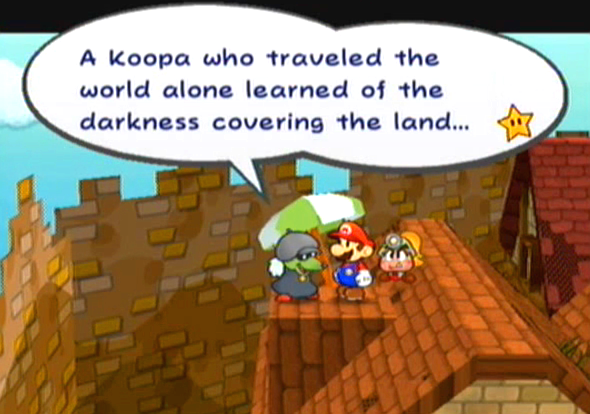 """A Koopa who traveled the world alone learned of the darkness covering the land..."""