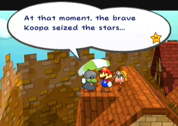 """At that moment, the brave Koopa seized the stars..."""