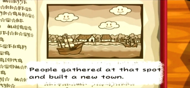 """People gathered at that spot and built a new town."""