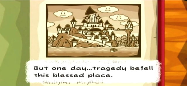 """But one day...tragedy befell this blessed place."""