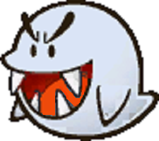 Typical Boo in Paper Mario Thousand-Year Door from Super Mario Wiki-slightly edited for visual clarity