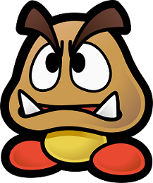 Typical Goomba in Paper Mario Thousand-Year Door from Super