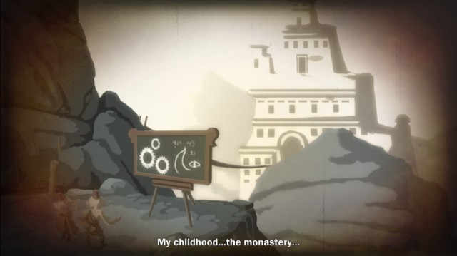 """My childhood...the monastery..."""