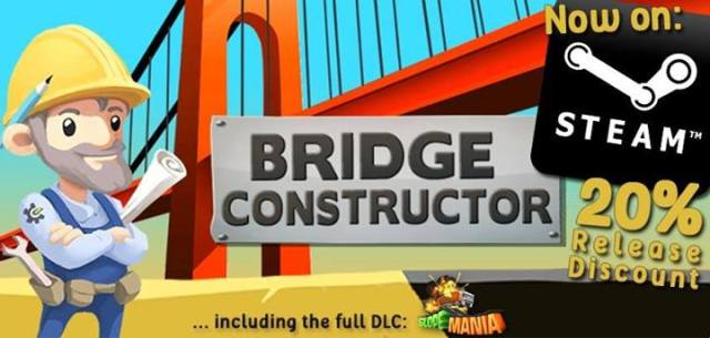 Bridge Constructor Release Steam Logo from Official Facebook Page