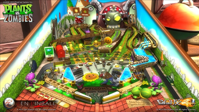 Plants vs. Zombies Pinball Table Screenshots from Official Trailer (1)