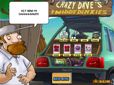 Crazy Dave's Twiddydinkies (his trunk).