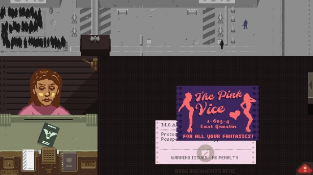 The Pink Vice business card...