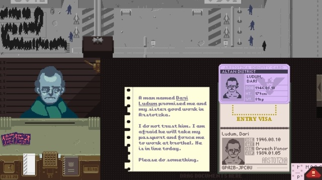 Dari Ludum's papers alongside the letter speaking of his intentions and the immigrant's possible fate.