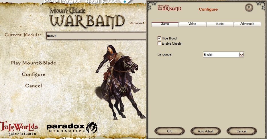 acok mount and blade cheats relationship