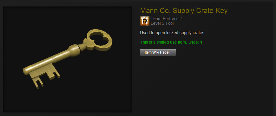 The lifeblood of the Steam trading economy�a single Mann Co. Supply Crate Key�s value fluctuates somewhere around $2.50 USD, making it an ideal replacement for money in many trades.