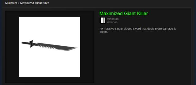 Maximised Giant Killer from Steam Community Market