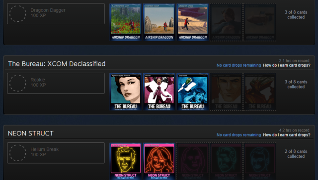 Steam Trading Cards picture from my Steam Profile