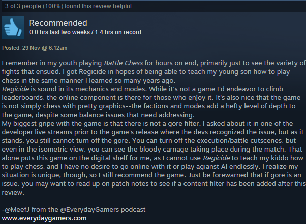MeefJ Steam Review Regicide from Steam